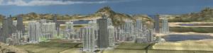 SceneCity city in Blender (Cycles @80 samples)
